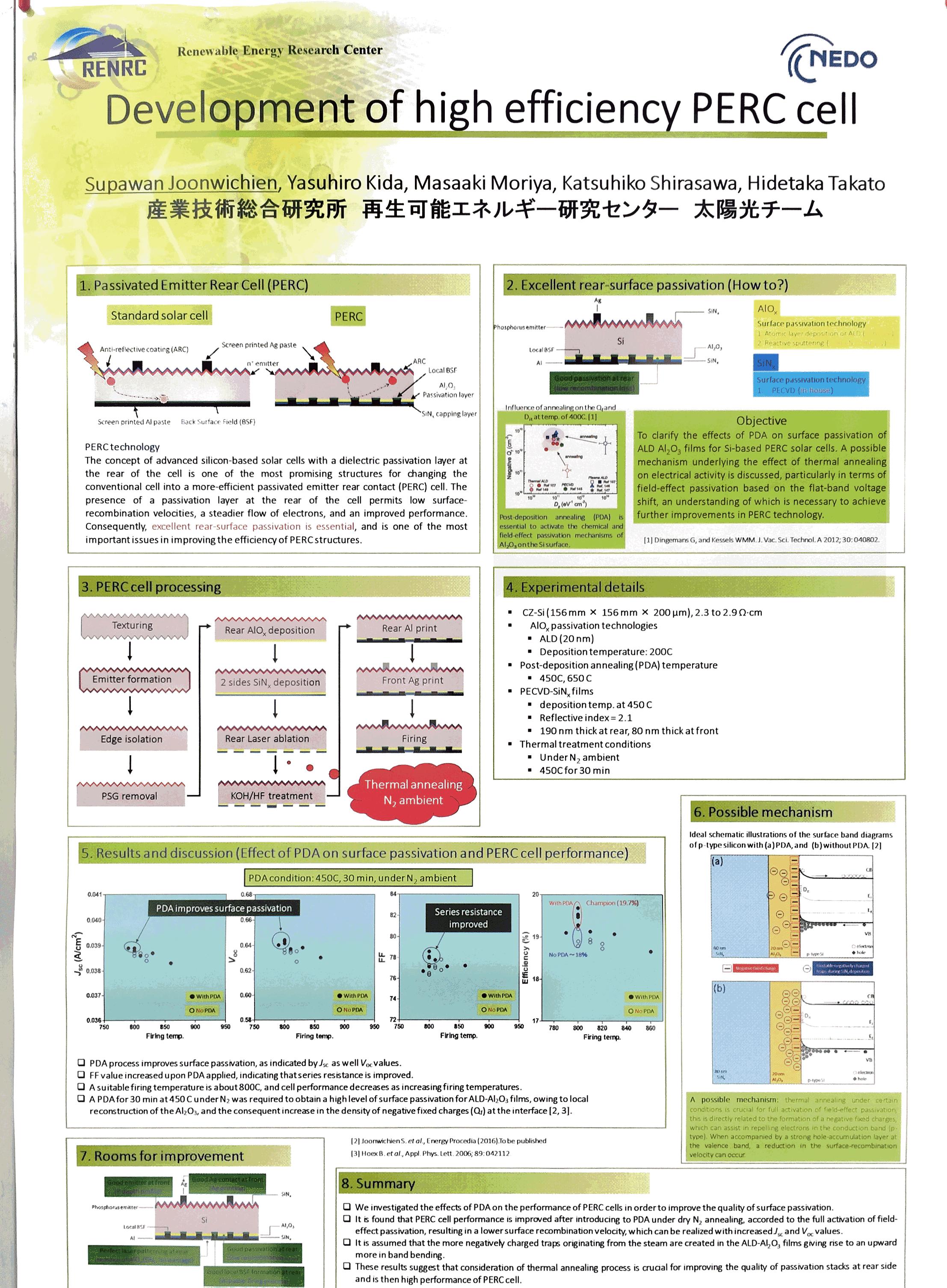 産総研 PV PERC